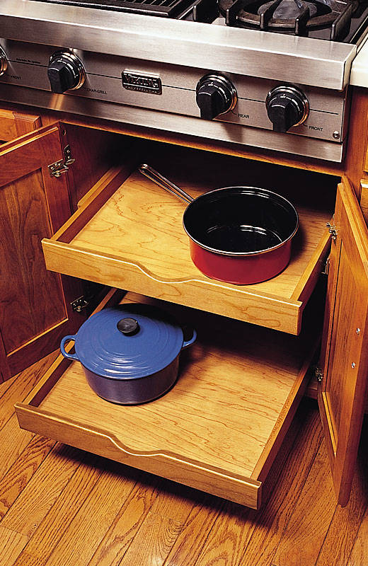 Under-cooktop Pullout Shelves