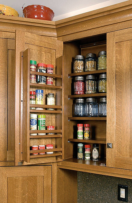 Cabinetry Accessories Wall Cabinets Spice Rack On Door