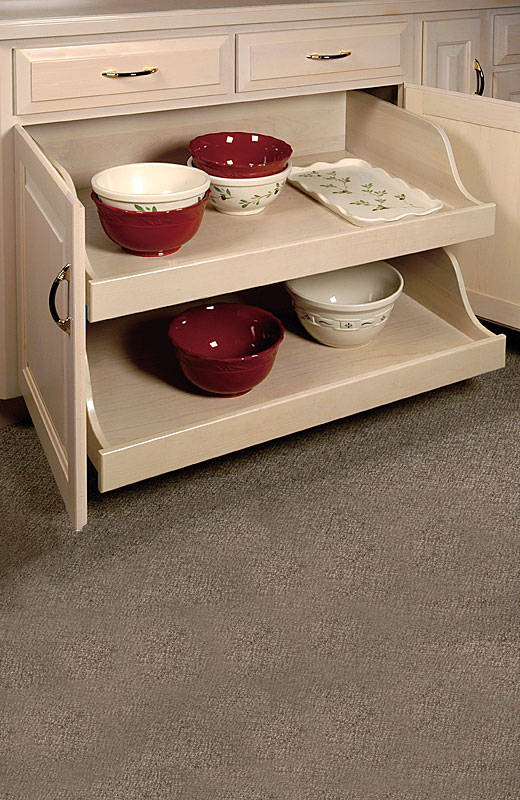 Scooped Pullout Shelves