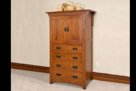 4-Drawer Mission Armoire - Large