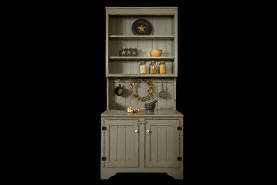 Inset Gray Cabinet