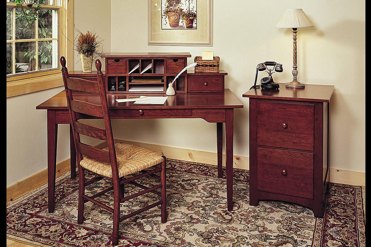 Shaker Writing Desk File Cabinet