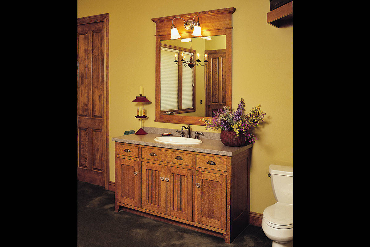 cabinetry bath cabinetry quarter sawn oak vanity. Black Bedroom Furniture Sets. Home Design Ideas