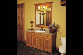 Quarter-sawn Oak Bathroom - Large