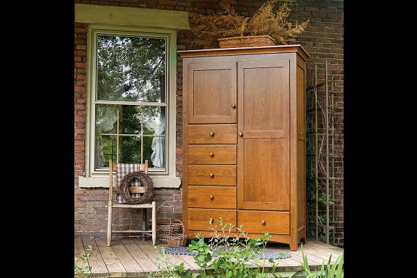 Shaker 6 Drawer Armoire