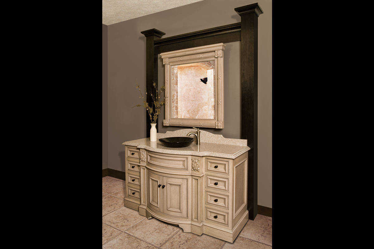 White Curved Vanity - Large