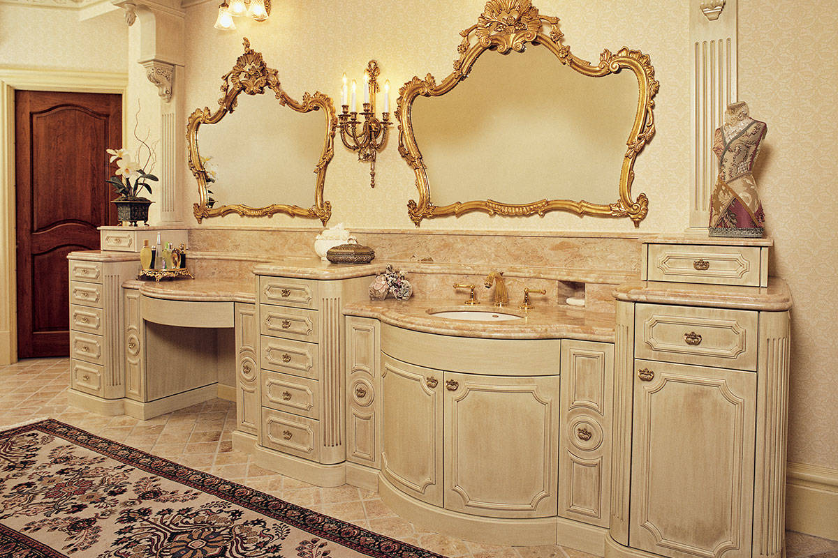 cabinetry | Bath Cabinetry | French Provincial Bathroom