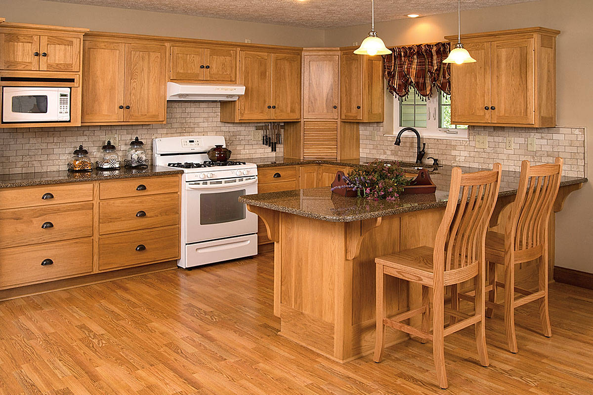Cabinetry Kitchen Cabinetry Natural Hickory Kitchen