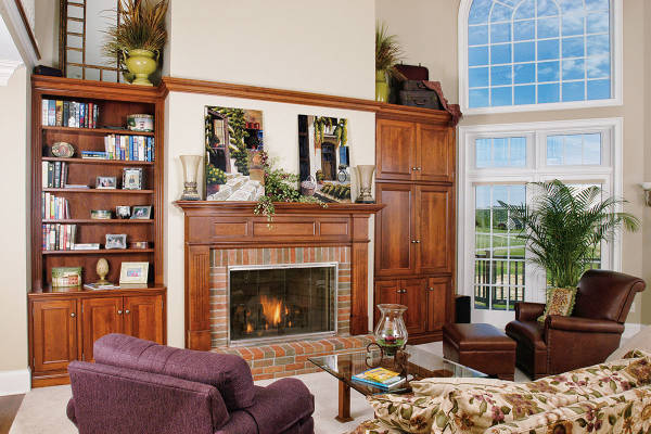 Cherry Family Fireplace & Sides