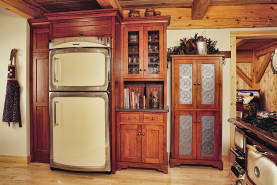 Cherry Shaker Kitchen Refrigerator