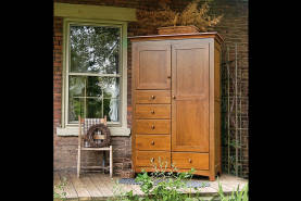 Shaker 6 Drawer Armoire - Large