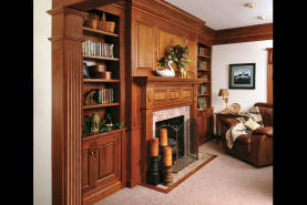 Den Bookshelf with Fireplace - Large