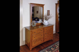 Shaker 6 Drawer Dresser - Large