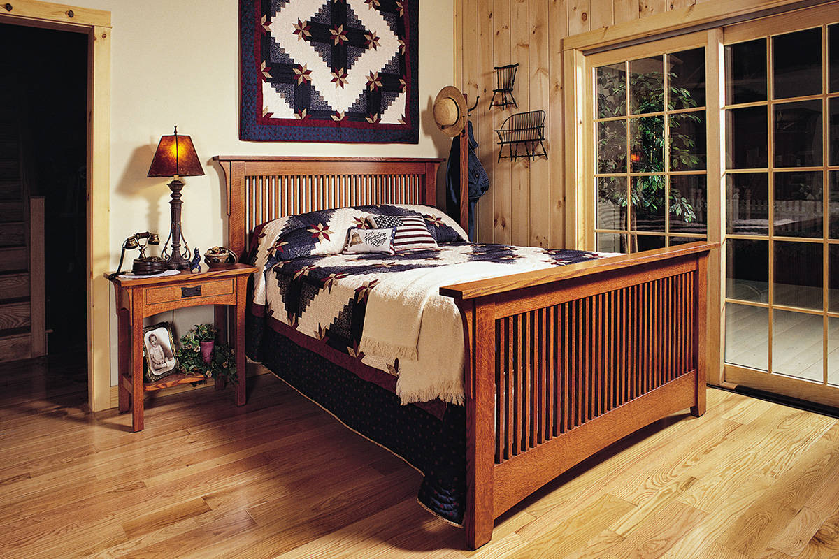 Mission Bed and Night Stand - Large