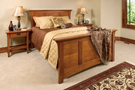 Mission Panel Bed and Nightstands - Large