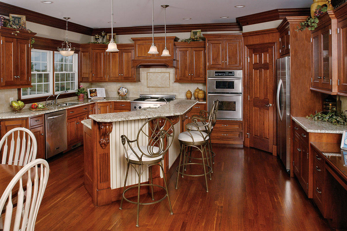 Cherry Kitchen with Island - Large