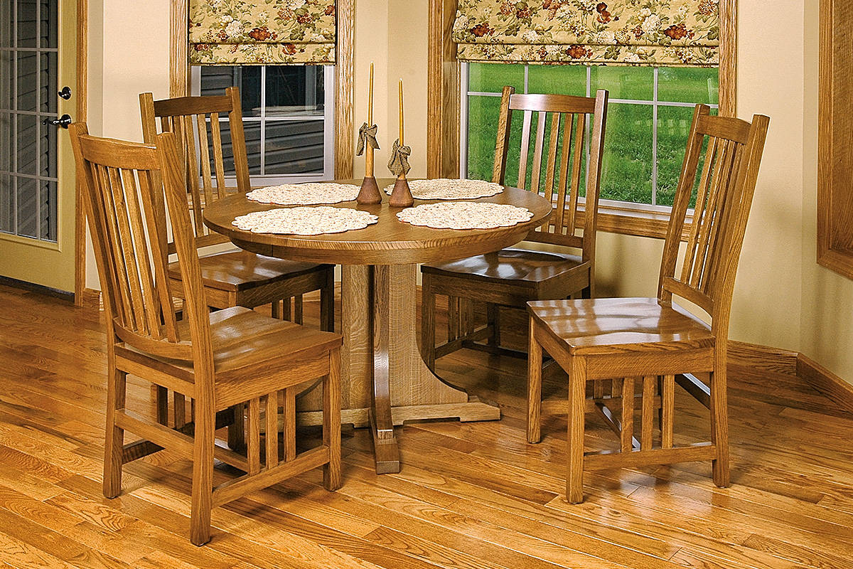 Mission Pedestal Table Round - Large