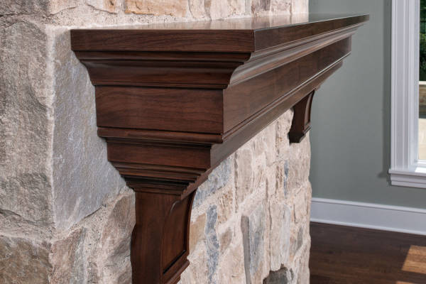 Walnut Mantel