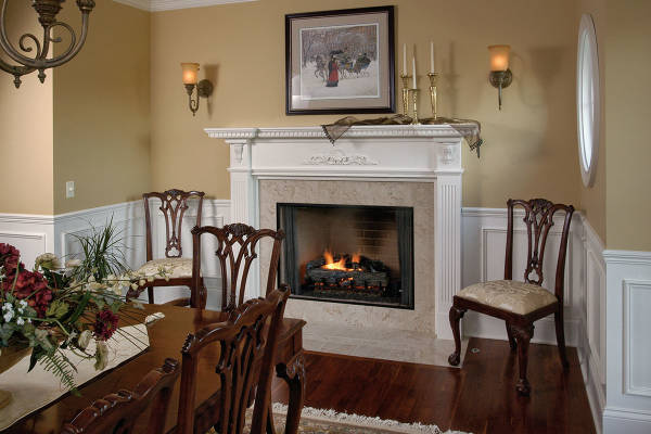Painted Dining Room Mantel