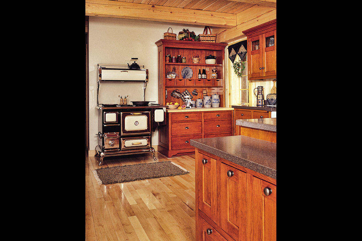 Cherry Shaker Kitchen Hutch